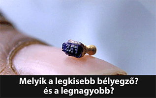 legkisebb legnagyobb bélyegző