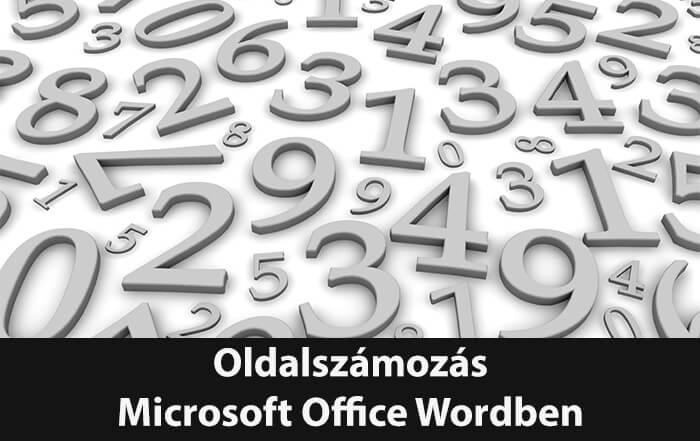 Oldalszámok szerkesztése Office Word dokumentumban