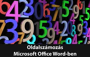 Oldalszámozás Office Wordben